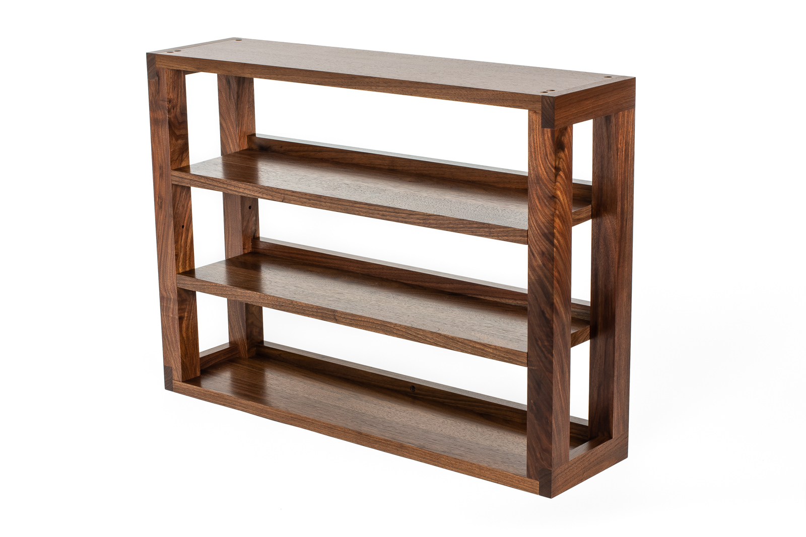 Walnut 3-Tier Media Shelves : NEW! Storage for CDs, cassettes & 8 tracks
